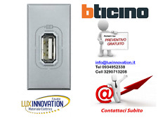 PRESA USB HC4285C 1 CARICABATTERIA 1,1A  TECH BTICINO AXOLUTE HC4285C1