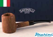 Tubo Pipe pfeife Savinelli grezza cerata 310 KS Poker semicuva made in italy