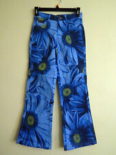 Blue Daisies print Denim stretch Jeans Route 66 (Girls Size 16) New Never worn