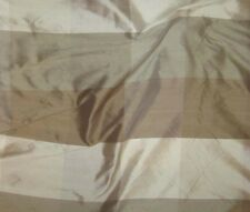 "Silk Dupioni Fabric - Taupe & Brown Check 18""x27"" remnant"