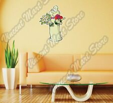 "Funny Condom With Flower Romance Love Wall Sticker Room Interior Decor 15""X25"""
