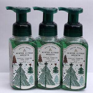 3 Bath & Body Works WINTER CITRUS WREATH Gentle Foaming Hand Soap 8.75oz Each