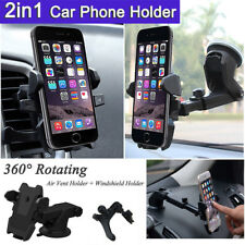 2x Universal Car Holder Windshield Mount Cradle For Iphone Samsung Mobile GPS