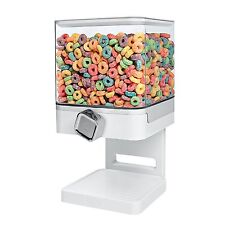 Dispenser Cereal Snack White Portion Control Compact Shatterproof Canister 17.5