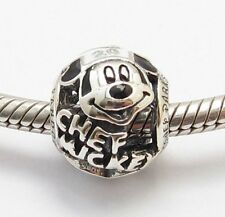 MOUSE FAN CHARM Park Bead Sterling Silver .925 For European Bracelets 772