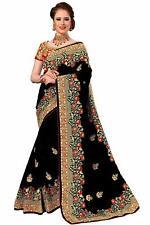 Sari Indian Ethnic Designer Silk Embroidery Saree for Wedding Party wear (K776)