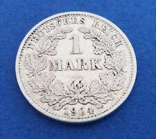 Deutsches Kaiserreich, 1 Mark, Reichsadler, 1904 D, Jg. 17, Silber