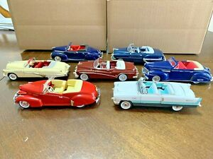 Lot of 7 1/32 Scale Diecast Antique Cars-5 Signature and 2 Unknown  ( Lot D )