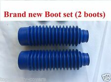HONDA XR80R XR100R CRF80F CRF100F New *Blue* FRONT FORK Boot rubber Gaitor Set