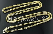 18k solid yellow gold franco chain necklace italian  20 inch 9.80 grams