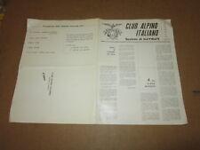 CLUB ALPINO ITALIANO SEZIONE DI GAVIRATE PROGRAMMA STAGIONE INVERNALE 1970