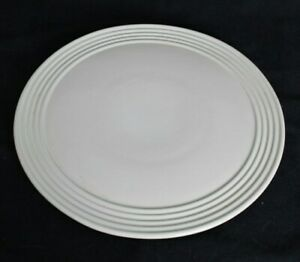 Pampered Chef Family Heritage White Glazed Stoneware Baking Platter Tray 14""