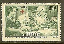 """FRANCE TIMBRE STAMP N° 459 """" AU PROFIT DES BLESSES CROIX ROUGE """" OBLITERE TB"""