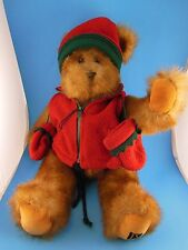 """Awesome 16"""" Fully Jointed Teddy Bear Faux Mink Fur Hat & Mittens T S Bear Russ"""