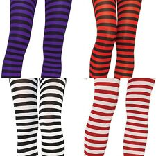 HALLOWEEN COSTUME  SPECIAL PLUS SIZE 1X/2X OPAQUE STRIPE TIGHTS  4 SANTA WITCH