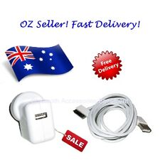 AC Wall Charger + 2M 6FT Data Sync Cable (for Apple iPhone, iPad & iPod)