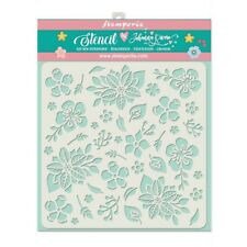 NEW Stamperia  Stencil 18cm x 18cm Flowers and Leaves