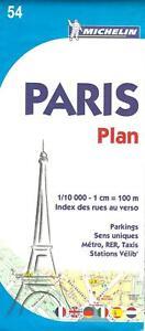 Paris Plan Street Map, Michelin Map #54