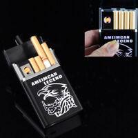 Black Dual Arc USB Electric-Rechargeable Flameless Cigar Lighter Cigarette X4M9