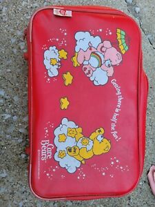 Vintage Care Bear red suitcase