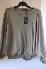 Polo Ralph Lauren Mens Pima Cotton-Pony Long Sleeve Grey Sweater 2XLT NWT