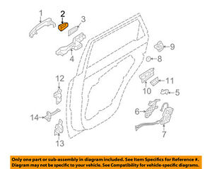 KIA OEM 11-15 Sorento Lock Hardware-Rear Door-Handle Cover Right 836622P010