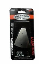 """7"""" Lazer Replacement Blades for Lazer Auger (Black Shaft) Made in Sweden #LD-7B"""