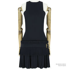 Alexander McQueen Black Accordion Pleat Tiered Kilt Dress IT42 UK10
