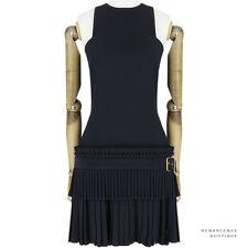 Alexander McQueen Black Accordion Pleat Tiered Kilt Dress IT42 UK10