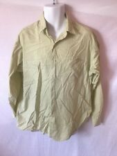 Men's BROOKS BROTHERS Green&White Check Long Sleeve Button Dress Shirt Sz 16.5