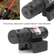 Tactical Red Laser Beam Dot Sight Scope Fit Gun Rifle Pistol Picatinny Mount WP