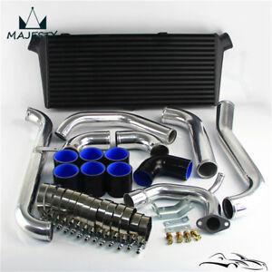 Black Bar & Plate Intercooler Kit For Toyota Starlet GT Turbo Glanza V EP91 EP82