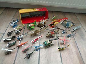 Job Lot Of Helicopters Including Buddy L/Corgi/Tonka/Hong Kong Mainly Vintage