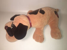 "Vintage Tonka 1985 Large Pound Puppies Puppy 18"" Tan w/ Floppy Dark Brown Ears"