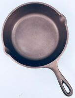 "Vingate Cast Iron #5 LODGE 3-NOTCH 8 1/4"" SKILLET ~ Restored ~Seasoned ~SMOOTH"