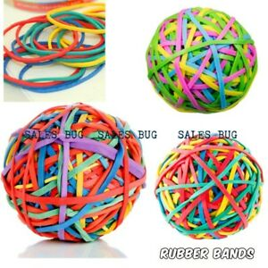 New 250pcs Elastic Rubber Bands Assorted Colours For Home School Office 140g UK✔
