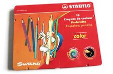 STABILO Swano 18 Farbstifte Buntstifte color Malstifte im Metalletui Metall-Etui