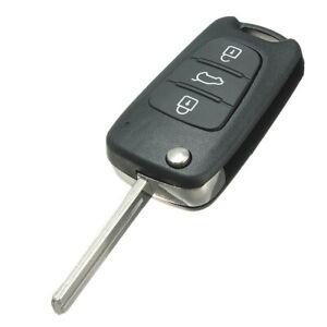 3 Button Flip Key Remote Shell Case Fit For KIA Soul Cerato Sportage Rio Sorento