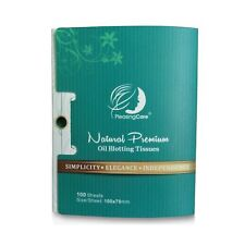 Natural Bamboo Charcoal Oil Absorbing Tissues - 100 Counts, Easy Take Out Des.