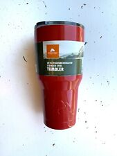 Ozark Trail 30-Ounce Double-Wall, Vacuum-Sealed Tumbler NEW Red