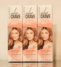 3 Pack Clairol  Color Crave Hair Makeup, Shimmering Rose Gold - 1.5 fl oz