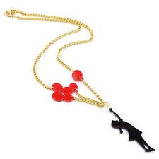 style statement emo kawaii kitsch harajuku Girl & Red Balloons Necklace banksy