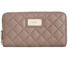 NWT DKNY  Gansevoort Quilted Leather Large Zip Around Wallet ~MSRP $108