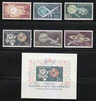 Czechoslovakia 1963 MNH Sc 1169-1175 Rockets & Sputniks,Planets,Space research**