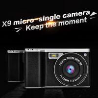 4.0'' 12X Optical Zoom 1080P HD IPS Digital SLR 24MP Camera Video Recorder Tool
