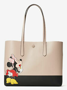 💚 KATE SPADE Disney Minnie Mouse Large Tote Shoulder Bag Novelty Purse Handbag