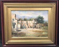 Paesaggio di campagna, olio su tela del pittore Vincenzo Canino, cm. 30,5x40,5