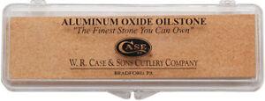 Case XX Aluminum Oxide Oilstone Medium Grit Knife Sharpener Stone w/ Box 00905