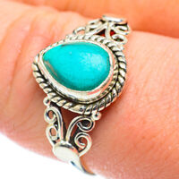 Tibetan Turquoise 925 Sterling Silver Ring Size 9.25 Ana Co Jewelry R51896F