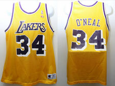 "90's Vintage Champion ""Shaquille O'Neal #34 Los Angeles Lakers"" Jersey Sz: 48"